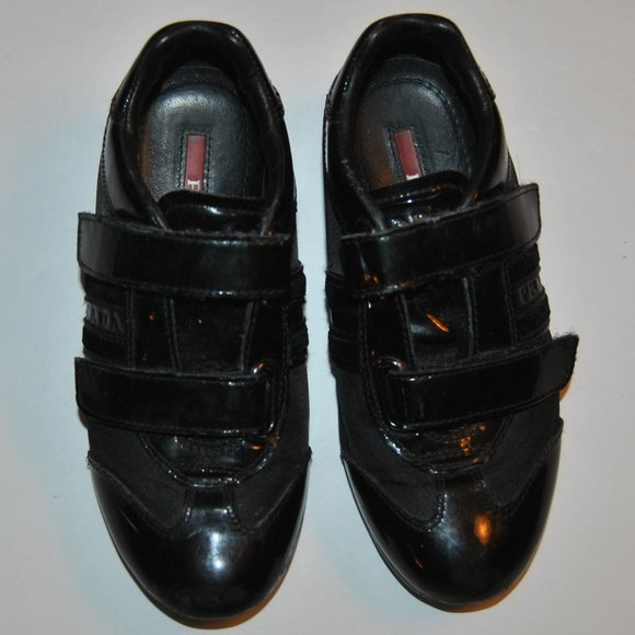 Prada Shoes   Childrens Black Sneaker